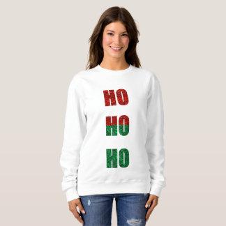 glitter ho ho ho womens sweatshirt