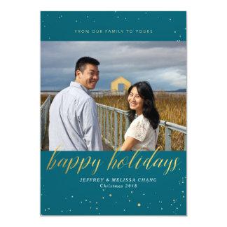 Glitter Holiday Photo Card