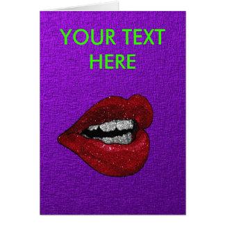 GLITTER HOT LIPS CARD