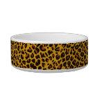 Glitter Jaguar Print Custom Cat Bowl