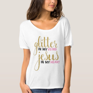 Glitter & Jesus Boyfriend Tee