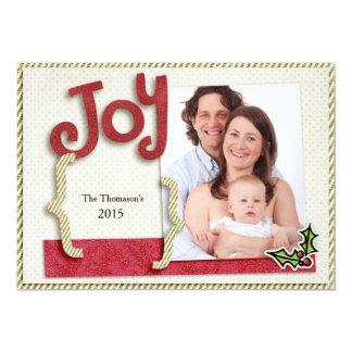 Glitter Joy Holiday Photo Card 13 Cm X 18 Cm Invitation Card