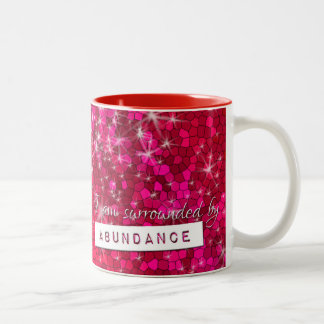 Glitter Law Of Attraction Abundance Inspirational Two-Tone Coffee Mug