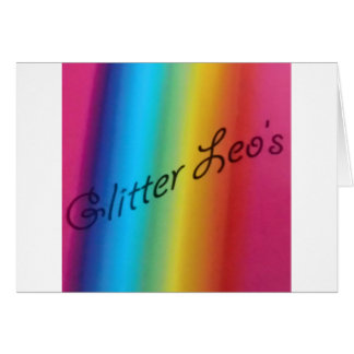 Glitter Leo's Greeting Card