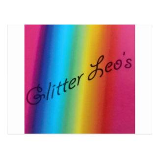Glitter Leo's Postcard