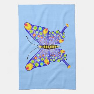 Glitter look butterfly American MoJo Kitchen Towel