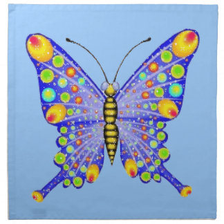 Glitter look butterfly American MoJo Napkin