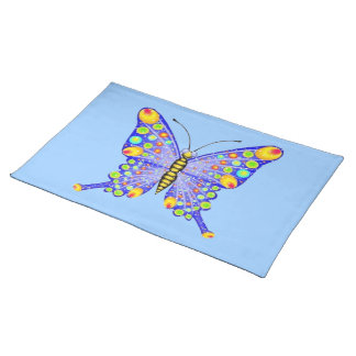 Glitter look butterfly American MoJo Placemat