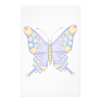 Glitter look butterfly customised stationery
