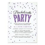 Glitter Look Confetti Bachelorette Party 13 Cm X 18 Cm Invitation Card