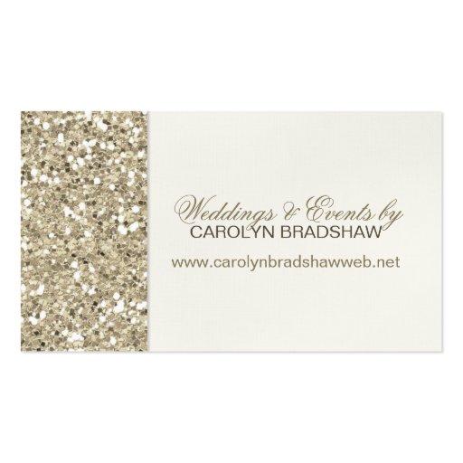 Glitter Look Gold Business Card