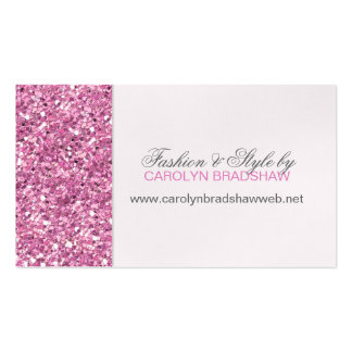 Glitter Look Pink Business Card