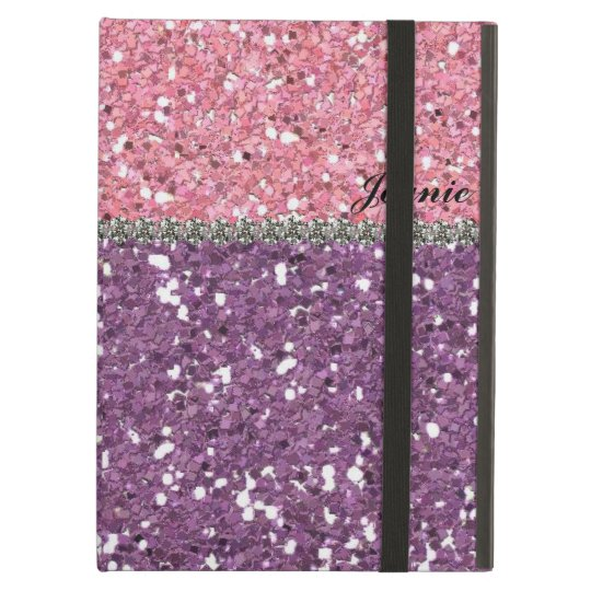 Glitter Look Pink Purple Rhinestones Personalised Cover For