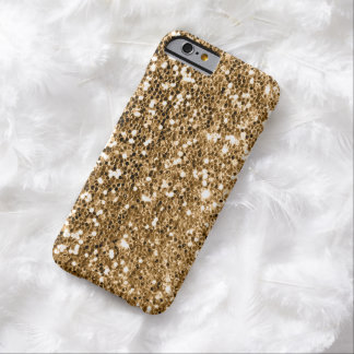 Glitter Look Solid Gold Sparkle Barely There iPhone 6 Case