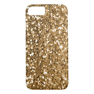 Glitter Look Solid Gold Sparkle iPhone 8/7 Case