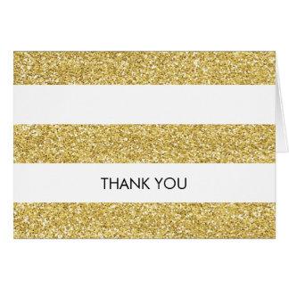 Glitter-look Thank You Card - horizontal