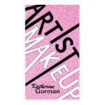 Glitter Makeup Artist Business Cards