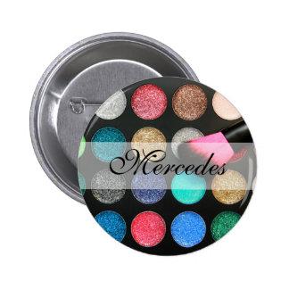 Glitter Makeup Button