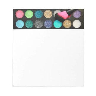 Glitter Makeup Notepad