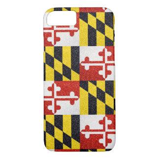 Glitter Maryland flag iPhone 7 case