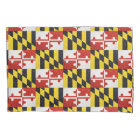 Glitter Maryland flag standard pillow case set