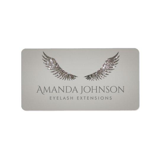 Glitter Mascara Eyelash Extensions Luxurious Label Address Label