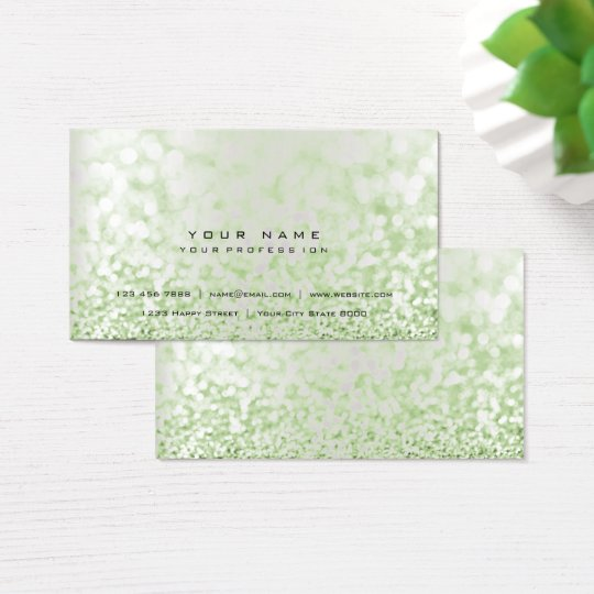 Glitter Mint Minimal Pearly Silver Gray Vip Business