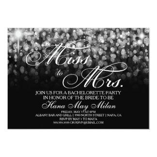 Glitter Miss to Mrs. Bachelorette Invitation