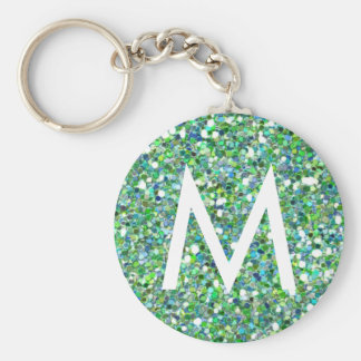 Glitter monogram keychain