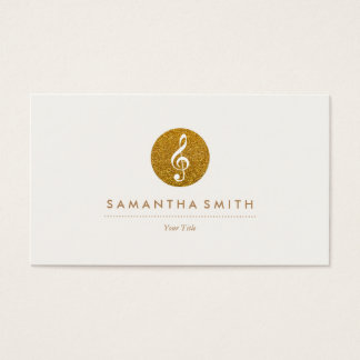 Glitter Musical Note Logo Business Card