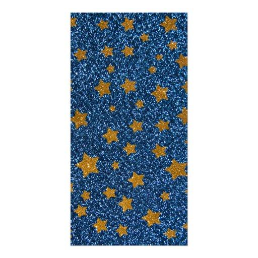 Glitter night sky photo cards