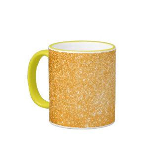Glitter Orange Ringer Mug