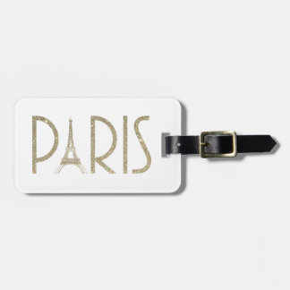 Glitter Paris Luggage Tag