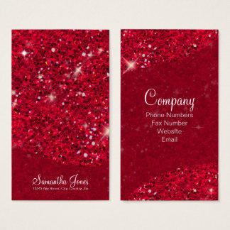 Glitter Pattern Red ID144 Business Card