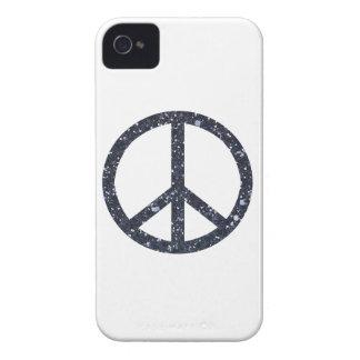 Glitter Peace Sign iPhone 4 Case-Mate Case