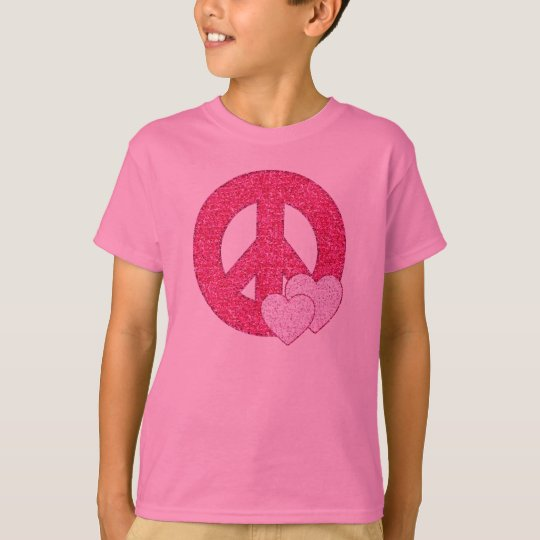 Glitter Peace Sign T-Shirt