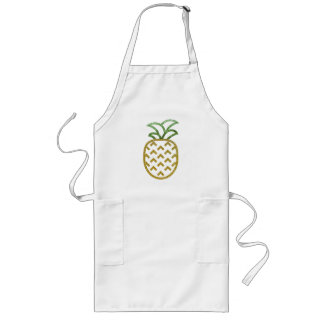 Glitter Pineapple Products Long Apron