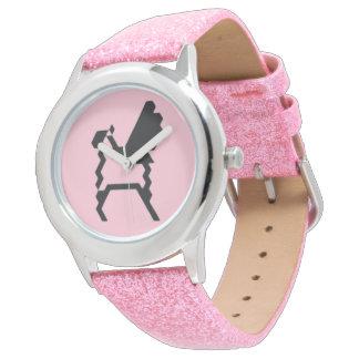 glitter pink wrist watch