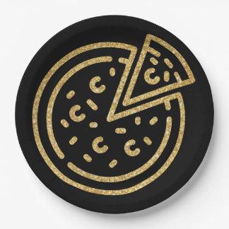 Glitter Pizza Paper Plate
