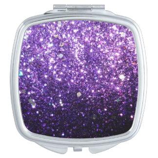Glitter Purple Mirrors Compact Mirrors