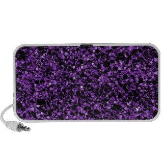 Glitter purple mp3 speaker