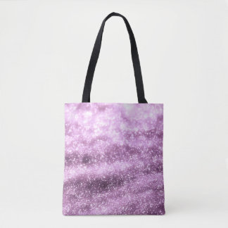 Glitter purple tote bag