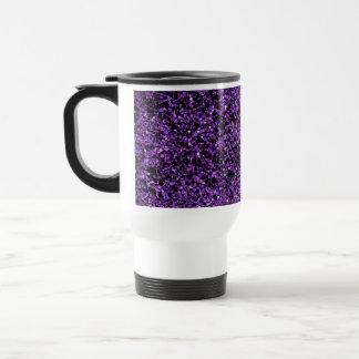 Glitter purple travel mug