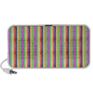 Glitter Rainbow Pattern PC Speakers