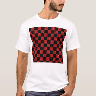 Glitter red and black checkered pattern T-Shirt