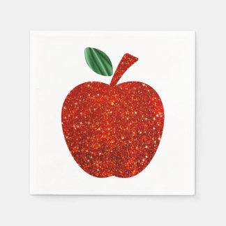 Glitter Red Apple Napkin Paper Napkins