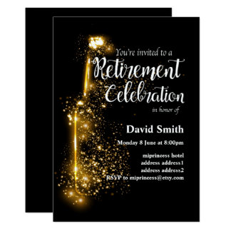 Glitter Retirement Celebration invitation