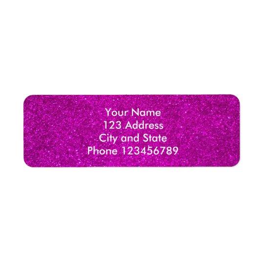 Glitter return address labels | faux pink glimmers