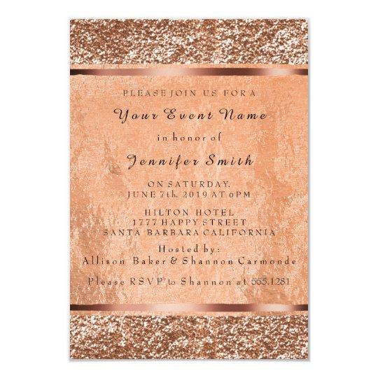 Glitter Rose Gold Copper Metallic Blush Pink VIP