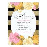 Glitter Rose Invitation for Baby or Bridal Shower 13 Cm X 18 Cm Invitation Card
